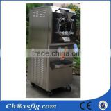 italian flat pan fried hard ice cream cone machine