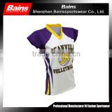 100% polyester dry fit women volleyball uniform designs for men