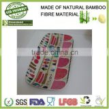 fantastic eco-friendly bamboo plate, hot selling dinner dishes,pretty decorative pattern dishes