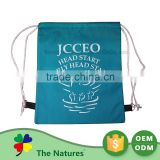 Custom Tag Foldable Oxford Hard Handle Soft Loop Plastic Bag With Square Bottom