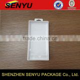 White PHINE CASE packaging with plastic window, fancy folding custom storage box packaging