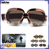 BJ-GT-013 Smoke Copper frame Color lens motocross goggles glasses fog motorcycle goggle for Harley