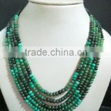 Emerald Gemstone Bead Necklace