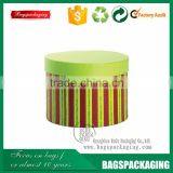 Stripe gift packaging round paper mache boxes