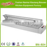 Table Top Restaurant Equipment 5 Kettle Electrical Bain-Marie Stainless Steel Buffet Food Warmer Server BN-B24 With Glass Sneeze