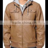 leather bomber jacket brown color