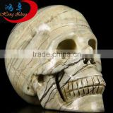 Natural crystal skull head skull carving Natural Butter Jade Crystal skulls