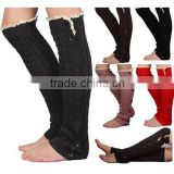 GIRLS off Soft Button Down leg warmers Knit Lace Trim - girls legwarmers legs in 5 colors at stock