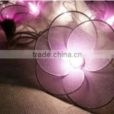 Purple, Soft Purple and White Nylon Flower String Lights Patio Wedding and Party Decoration
