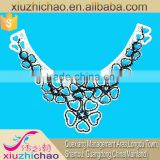 Factory selling Fashion Beaded Applique lace handmade collar