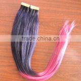 Alibaba express Ombre Two tone colored, Straight, Chinese double sided tape hair extensions