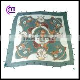 Polyester voile scarf with chain design printing