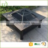 Metal steel outdoor fire pit/garden treasures fire pit with chimney XY-FP-15002                                                                         Quality Choice