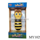 hot selling item battery operated cartoon bee telephone with light and music toddler's learning toy (Russian Vision)
