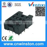 PY-14-0 General Miniature Black Color 300V 7A 14 Pins Electro-magnetic Industrial Relay Socket with CE
