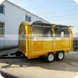 2014 Hot Selling Salted Peanuts Food Trailer Cart with Jam Dispenser Juice Extractor XR-FC350 D