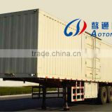 China hot sale 3 axles box type semi trailer with one tool box and ABS braking system for sale