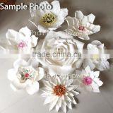 Handmade Mulberry Giant Paper Flower, Wedding Party Backdrop Customized Color WBD2