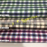 100% cotton yarn dyed check fabric with peach in stock for garment and shirt 21*21 64*54