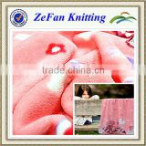 2013 Super soft polyester printed coral fleece fabric for blanket wholesale