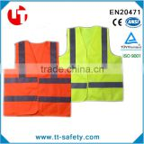 EN471 adult security protection Orange Yellow Reflective Strips Safety Warning Vest Jacket Clothing