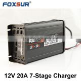 Hot selling car battery charger, 12V 20A LED fully automatic lead acid battery charger, auto battery charger