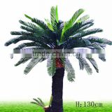 Artificial cycas tree plastic ferreous plant with LED light for garden park plaza park decoration