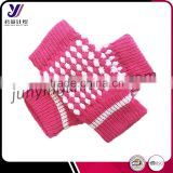 Half finger winter knit woolen felt gloves fit boy and girl knitted gloves factory wholesale sales (accept custom)