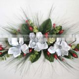 artificial flowers christmas table center