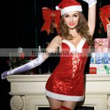 Wholesale Women's Sexy Lingerie 5Pcs Santa Naughty Babydoll Nightie