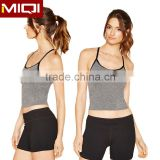 Cheap Wholesale Sports Wear Custom Blank Crop Tops Sexy Fashionable Dri Fit Ladies Crop Top