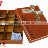 High quality exquisite paper box for chocolate packaging with reasonable price wholesale