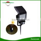LED Solar Powered Floodlight PIR Motion Sensor Garden Yard Landscape Light with Ground Spike