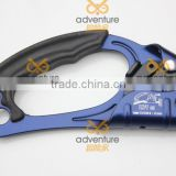 PPE hand ascender, self-braking descender for ropes to belay when climbing