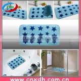 Durable PVC anti-slip bath mat with suction cups