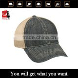 Wholesale demin trucker hat with 3D embroidery logo custom mesh cap and hat                                                                         Quality Choice
