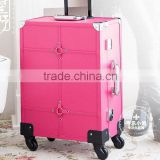 2015 New Arrive Factory direct supply professional rolling makeup case with light mirror,makeup jewelry box,makeup ,makeup boxes