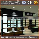 High end shop equipment for glass shoe display case