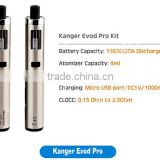 2016 Newest ecig vape all in one kit 4ml topfill MTL CLOCC Kanger Evod Pro Kit fit 1pc 18650 battery
