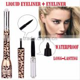 Music Flower 2in1 cheap eyeliner pencil eyeliner gel Leopard tube waterproof long lasting eyeliner