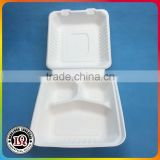 Disposable 3 Parts Sugar Cane Biodegradable Fast Food Container                                                                         Quality Choice