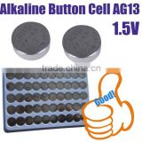AG13 led flash light 1.5v button cell Battery alkaline