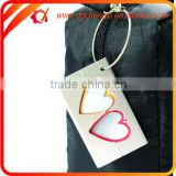Double Heart Metal Travel Luggage bag Tags Aluminium Belt Buckle Adress Holder