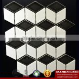 IMARK Mixed White And Black Color Ceramic Cube Mosaic Tile/3D Ceramic Mosaic Tile For Bathroom/Kitchen Backsplash Wall