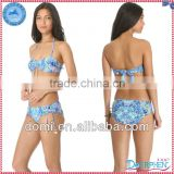 Flowers digital printed hot sexi photo image of micro bikini,lady photos sex open bikini swimwear
