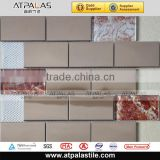 Foshan mosaic manufacurer-- Tile mosaics,brick wall tiles, glass metal mosaic tile backsplash AME3040