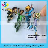 Custom round transparent foil stamping sticker,clear stickers embossed foil stamped self adhesive labels