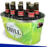 Galvanized Beer Cooler Ice Bucket