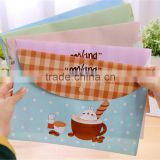 2016 Cute cartoon Candy Color Waterproof File pvc Bag Document Folder for Paper Storage Case