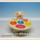 Easter Ceramic Egg Tray Bunny design egg Holder Plate